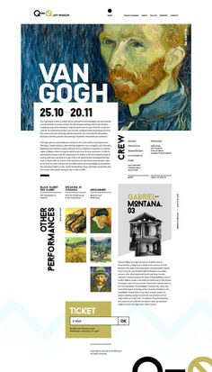 Q-Q Art Museum - Inspired from Silo Theatre #museum #site #van #gogh #design #minimal #art #type #web #typography