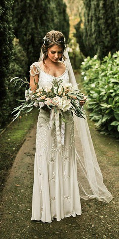 Bohemian wedding dresses are popular among brides even nowadays. They are reflected something divine, light and fairy.
