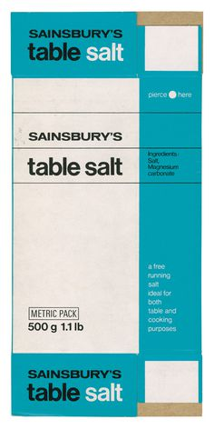 Table Salt, 1966 #retro #vintage #typography