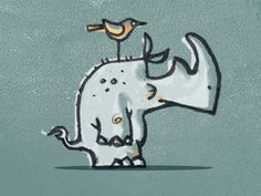 Rhino Ralph #rhino #mike #illustration #bruner #humor