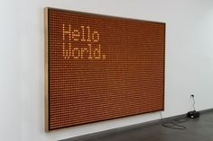 Valentin Ruhry - Untitled (Hello World.) #sign #type #light