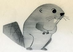 All sizes | Ray Patin Beaver animation drawing | Flickr Photo Sharing! #illustration #vintage