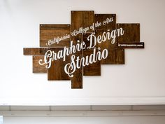 CCA Graphic Design Studio sign #lettering #design #graphic #cca #james #studio #signage #edmondson #california
