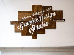CCA Graphic Design Studio sign #lettering #california #signage #james edmondson #graphic design studio #cca