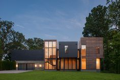 Massive Contemporary House Taking in Great Views in Maryland #maryland #architecture #contemporary