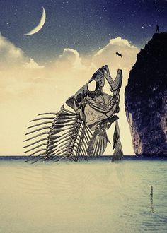 Love Nightmare #nightmare #fish #fall #dream #night #poster #art #love
