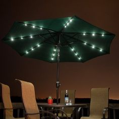 Solar Powered Patio Umbrella #tech #flow #gadget #gift #ideas #cool