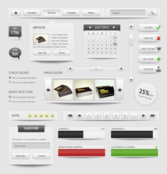 Complete ui elements in grey color Free Psd. See more inspiration related to Color, Web, Elements, Ui, Gray, Psd, Grey, Web elements, Material, Interface, Vertical, Complete, Psd material and Interface elements on Freepik.