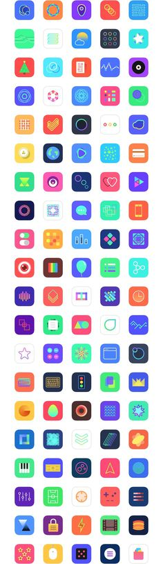 Jellycons - 100 iOS 8 App Icons | LoveUI.co #ui #ux