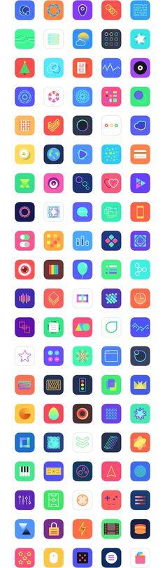 Jellycons - 100 iOS 8 App Icons | LoveUI.co #ux #ui