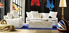 Coastal-style - pleasant and relaxing as the sea breeze / www.homeworlddesign.com #room #coastal #living #style