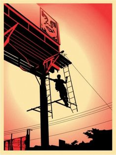 Bayshore Billboard - OBEY GIANT #giant #bayshore #billboard #fairey #poster #obey #shepard