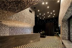 Snow Hotel corridors dark draperies #hotel #interior #design #decor