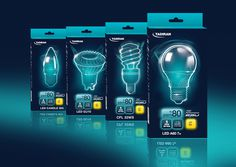 Tadiran Lighting on Packaging of the World - Creative Package Design Gallery #packaging #lighting