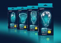 Tadiran Lighting on Packaging of the World - Creative Package Design Gallery #packaging #lighting