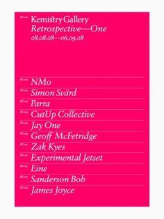 Retrospective—One | AisleOne #pink #typography