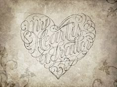 My Heart is a Traitor by Robert Chin #calligraphy #lettering #script