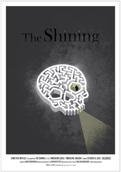 Jeff Kleinsmith's Beautiful New Poster for The Shining! | FirstShowing.net #maze #horror #the #shining #poster #skull