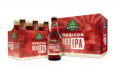 Summit Brewing Horizon Red IPA #packaging #beer