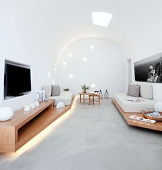 Santorini House Painted in White
