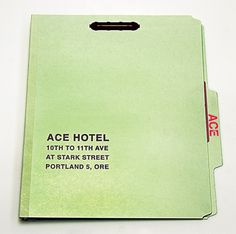 Ace Hotel / Press Kit / The Official Manufacturing Company #graphic #map #kit #hotel #layout #paper