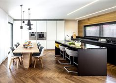 B House – Modern Dwelling with Dark Accents - #kitchen, kitchen ideas, kitchen design, #furniture