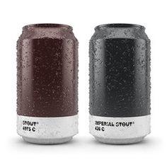 Ölburkar i Pantone-färger - | Tjock / Strupen #beer #packaging #design #graphic #pantone