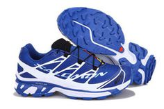 Salomon S-Lab Sense Ultra Man Casual Hiking Travel Climbing Shoes Blue And White #shoes