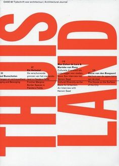 FFFFOUND! | OASE 68 Home-land #design #editorial #typography