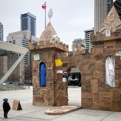 The Homeless Castle #dreams #cardboard #castle #homeless #homelessness #charity