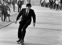 NYC - Skateboarding #skateboarding #photography #suit #vintage