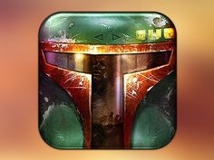 Boba_fett_dribbble #icon #iphone #application #ipad