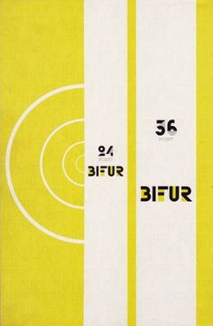 Graphical Distractions: Adolphe Mouron Cassandre - Bifur promotional brochure #bifur #type #lettering