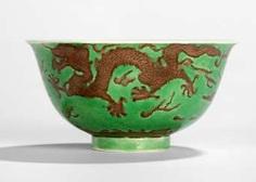 Green glazed dish with dragon decoration in Aubergine #Sets #Tea sets #Porcelain sets #Antique plates #Plates #Wall plates #Figures #Porcelain figurines #porcelain