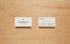 Maderista Identity by Anagrama #card #branding
