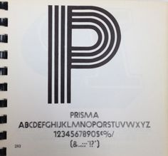 Daily Type Specimen | Prisma was designed by Rudolf Koch in 1931. Like... #typography