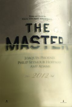 Return to the main poster page for The Master #type #design #poster