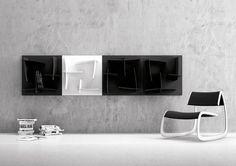 Arigatò Marcello Ziliani Libreria modulare composta da un monoblocco di 650 mm in SAN coprente che può comporsi assieme agli altri liberam #arr #arredamento #residences #accessori #arredamenti #alberghi #design #casa #ristoranti #moderno #bagno #bar #albergo #arredare #hotel #per