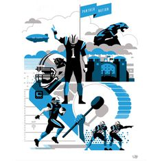 PN #Illustration by Matt Stevens #Sports #NFL #Carolina #Panthers #American #Football