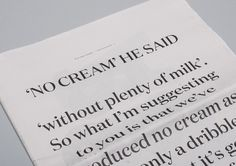 NO CREAM #font #serif #design #newspaper #typeface #type #layout #editorial #magazine #typography