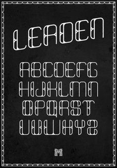LEADEN : Type Specimen - Typography - Creattica #type #typeface #typography
