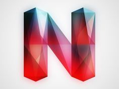 Dribbble - N by Chris Rushing #lettering #letters #gems #letterforms #crystals #type #typography
