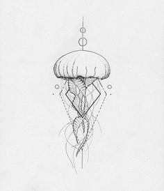 Jellyfish geometric by Arley Cornell