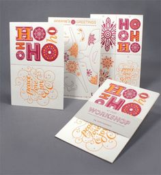 design work life » Birdsong Gregory Holiday Card #typography #card #printed