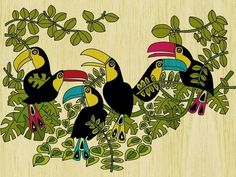 ILLUSTRATION - What She Does #whatshedoes #toucans #com #brazilian