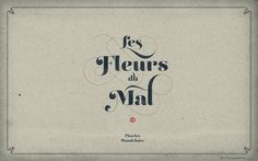 FFFFOUND! | LIÁN TYPES »Reina« ❁ Les Fleurs du Mal Aged (for widescreen displays) | Flickr – Condivisione di foto! #type