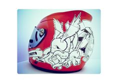• Helmetdesign on the Behance Network #helmet #painted #design #hand