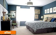 Before & After: A Bedroom Gets Finished With Fresh Paint and Flea Market Finds | Apartment Therapy #interior