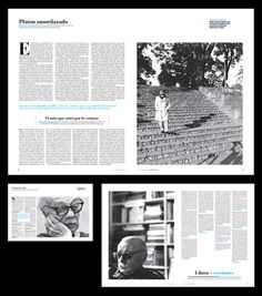 SABATO INTIMO CLARIN Ã' on Editorial Design Served #format #large #layout #columns #monochromatic
