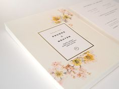 Wedding-invites #wedding #flowers